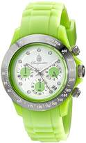 Burgmeister Florida Women's Quartz Watch with White Dial Chronograph Display and Green Silicone Strap BM514-990F