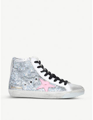 Golden Goose Francy glitter high-top trainers