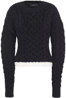 Joseph Cable-knit Merino Wool And Cotton-blend Sweater