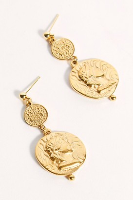 Amber Sceats Coin Earrings