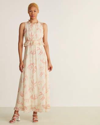 Ottod'ame Floral Print Sleeveless Maxi Dress