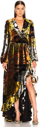 Caroline Constas Liv Gown in Gold   FWRD