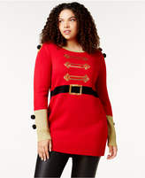 It's Our Time Trendy Plus Size Embellished Holiday Sweater
