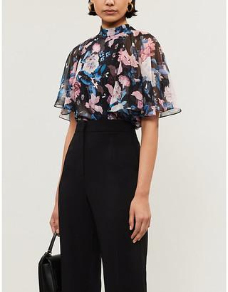 Erdem Bennet floral-print silk-chiffon top