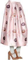 Rochas Iris Printed Duchesse Skirt