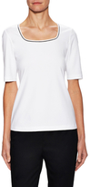 Lafayette 148 New York Cotton Scoopneck Tee