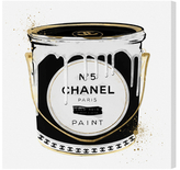 Oliver Gal Fashion Paint Noir by Canvas)
