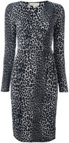 MICHAEL Michael Kors leopard print dress - women - Cotton/Polyester/Spandex/Elastane - L