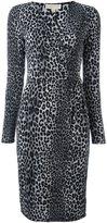 MICHAEL Michael Kors leopard print dress - women - Polyester/Spandex/Elastane/Cotton - XS