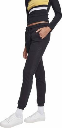Urban Classics Women's Ladies Tech Mesh Side Stripe Sweatpants Trouser