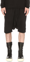 Rick Owens Dropped-crotch wool shorts