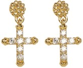 Lagos 18K Gold Covet Diamond Cross Drop Earrings - 0.18 ctw