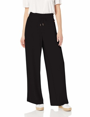 Betsey Johnson Women's Wide Leg Pant with Side Stripes