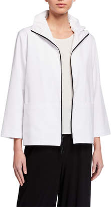 Caroline Rose Summer Stretch Zip-Front Pocket Jacket