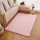 TMJJ Home TMJJ Soft Shaggy Carpet Living Room Bedroom Area Rugs Home Decorator Floor Mats (80(W)*160(L)cm, )