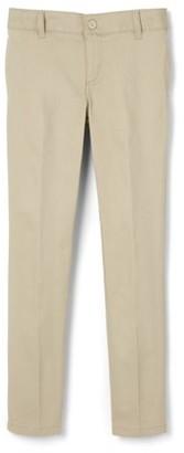 French Toast Girls School Uniform Adjustable Waist Stretch Twill Skinny Pants, Sizes 4-20 & Plus