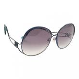 Balenciaga Blue Metal Sunglasses