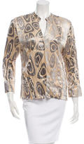 Roberto Cavalli Printed Silk Top
