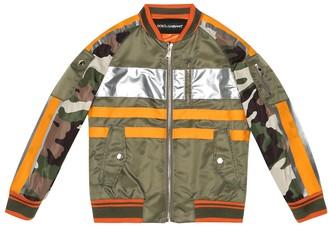 Dolce & Gabbana Kids Reflective-trimmed bomber jacket