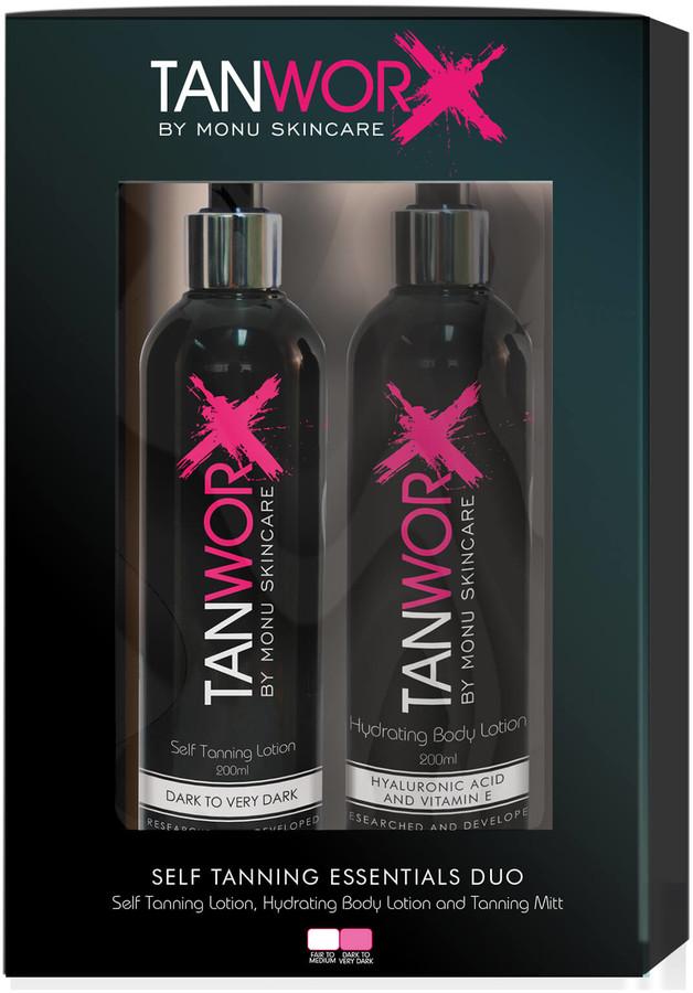 Tanworx Tanning Essential Duo - Dark/Very Dark (Worth 52.85)