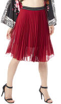 Papermoon Red Pleated Skirt