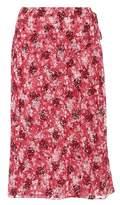 Calvin Klein Floral-printed wrap skirt