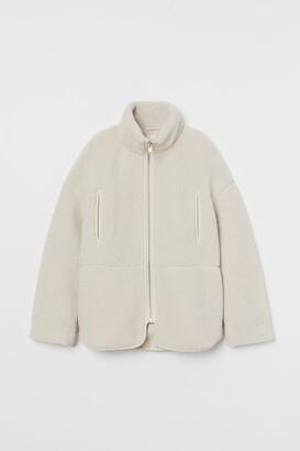 H&M Fleece Jacket with High Collar