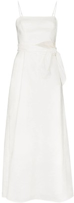 Zimmermann Amelie tie waist midi dress