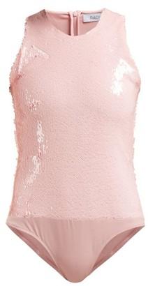 Racil Fonda Sequinned Bodysuit - Womens - Light Pink