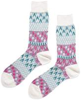 Ayame Pouring Rain Socks Beige, Pink & Blue