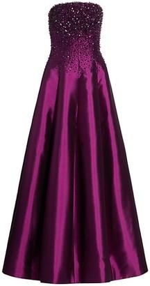 Catherine Regehr Van Der Rohe Strapless Crystalized Gown