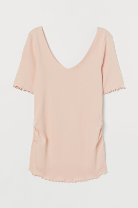 H&M MAMA Ribbed Top