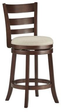 """Andover Mills Leda Swivel Bar & Counter Stool Seat Height: Counter Stool (24"""" Seat Height), Upholstery: Beige"""