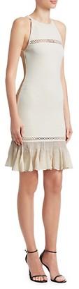 Roberto Cavalli Peplum Hem Knit Dress