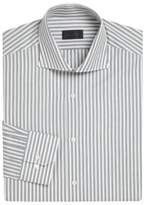 Pal Zileri Wool and Silk Striped Dress Shirt