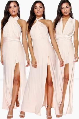 boohoo Multiway Side Split Skirt Maxi Dress