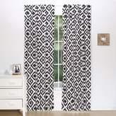 The Peanut Shell Tile Window Panel Pair in Black/White