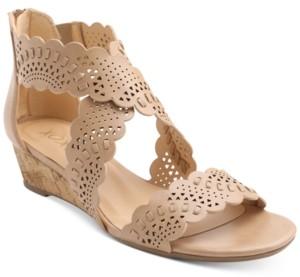 XOXO Amarissa Crisscross Wedge Sandals Women's Shoes
