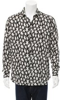 Saint Laurent Star Print Button-Up Shirt