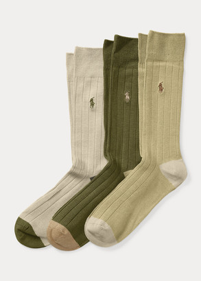 Ralph Lauren Rib-Knit Sock 3-Pack