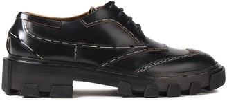 Balenciaga Glossed-leather Brogues