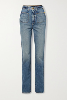 KHAITE Isabella High-rise Straight-leg Jeans - Mid denim
