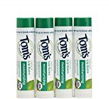 Tom's of Maine Moisturizing Organic Lip Balm, Peppermint, 4 count