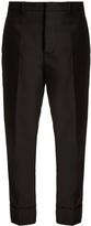 Marni Slim-leg turn-up cuff gabardine trousers