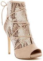 GUESS Ayana Snake Embossed Lace Sandal