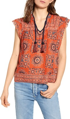 Faherty Kingsley Print Top