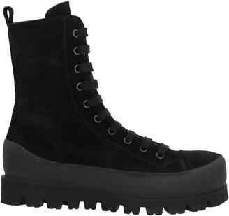 Ann Demeulemeester Chunky High-Tops Combat Boots