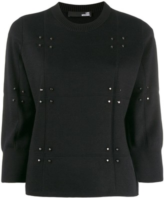 Love Moschino Stud-Embellished Jumper