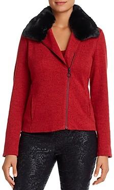 Nic+Zoe Melange-Knit Moto Jacket