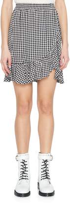 Ganni Gingham Crepe Mini Skirt